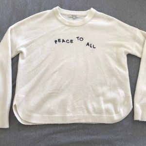 Madewell Peace To All Westlake Sweater